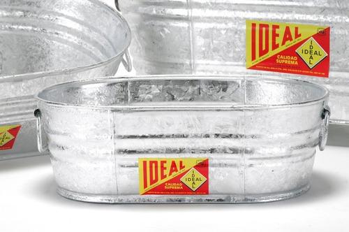 tina ovalada de lamina galvanizada # 000 -  7 litros