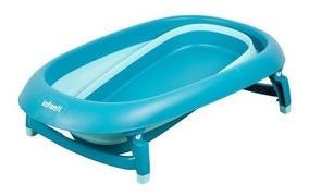 tina para baño de bebé y niños plegable con hamaca.