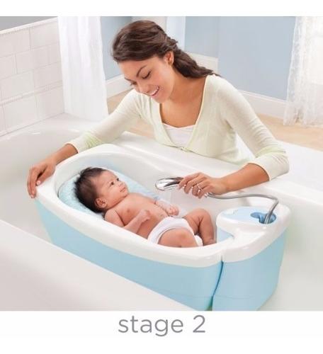 tina para bebe burbujeante spa y ducha de hidromasaje, azul