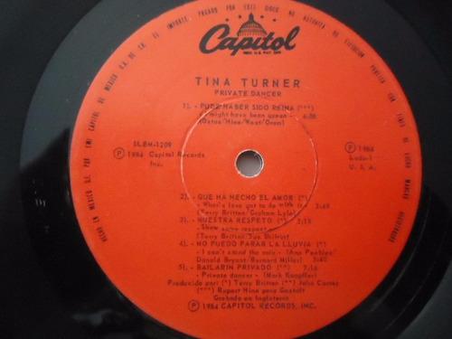 tina turner / private dancer vinyl lp acetato