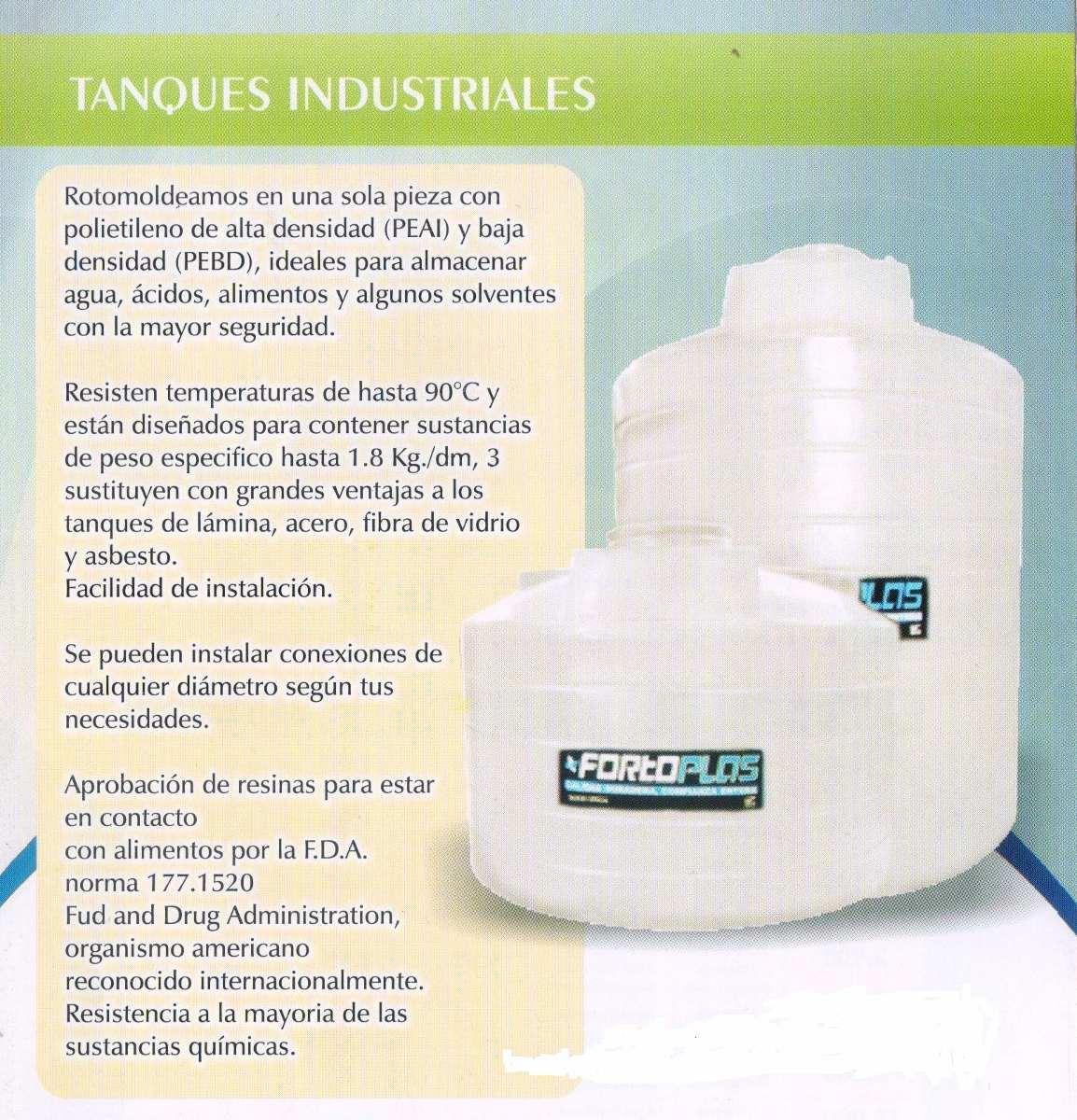 Tinaco cisterna fortoplas 5000 litros vea descripci n for Tinacos rotoplas medidas