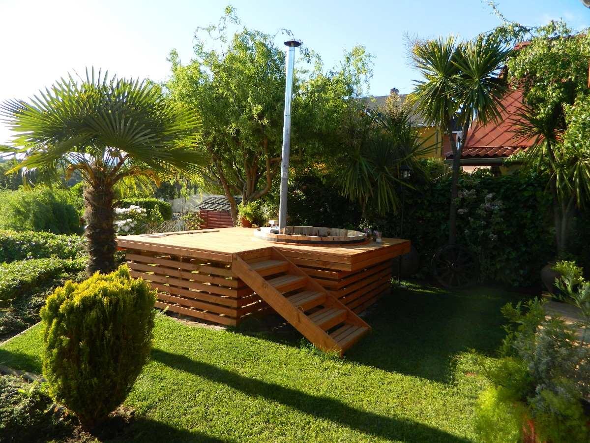 Tinas calientes de maderas hot tub para 4 personas for Imagenes de jacuzzi para exteriores