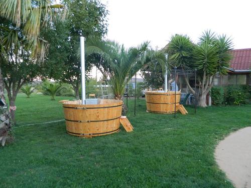 tinas calientes de maderas, hot tub para 6 personas.