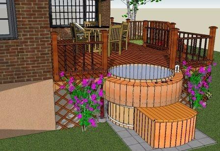 tinas de madera piscinas terrazas y diseo