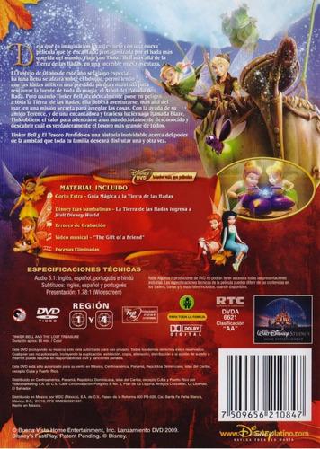 tinker bell y el tesoro perdido lost treasure pelicula dvd