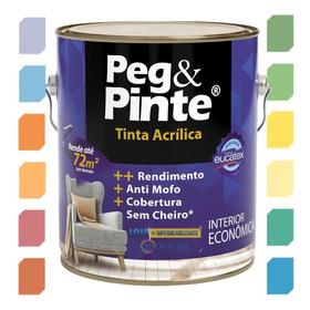 Tinta Acrílica, Antimofo, Rendimento P/ Parede Eucatex Cores