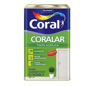 Tinta Acrílica Fosco Coralar Branco Neve 18 Litros Coral