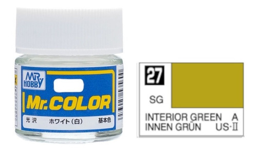 tinta acrílica interior green innen grun mr color 27
