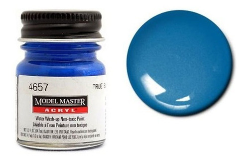 tinta acrílica true blue pearl [g] model master 4657