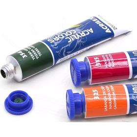 Tinta Acrylic Colors Acrílica Tela Acrilex 20ml Kit C/ 12un