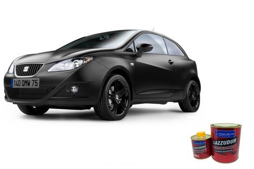 tinta automotiva pu preto fosco kit c\ 0,9 litros + removedo