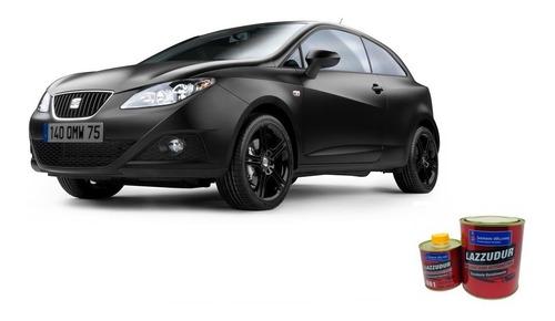 tinta automotiva pu preto fosco kit c\ 3,6 litros