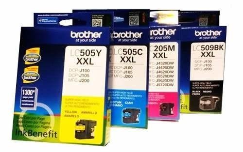 tinta brother lc-509bk black dcpj100 / 105 / 200