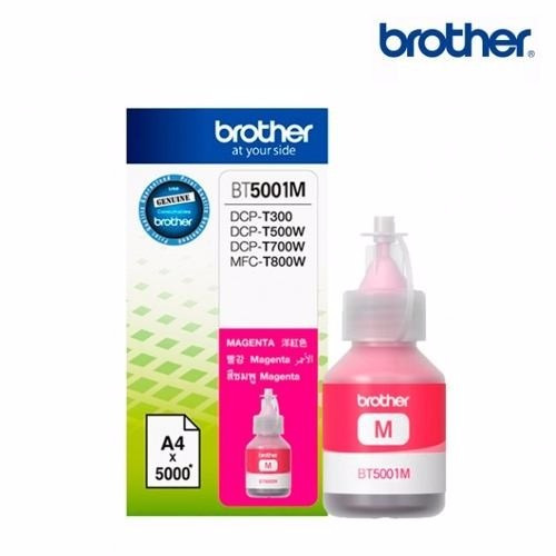 tinta brother magenta bt5001m dcp-t300-t500w-t700w-mfc-t800w