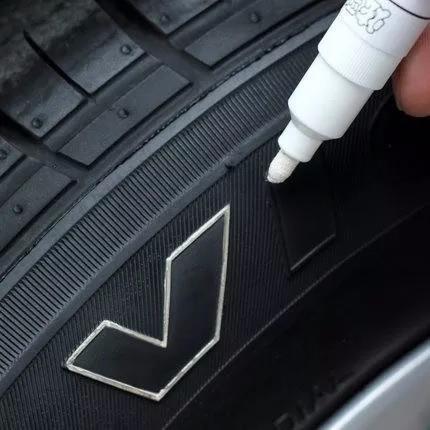 tinta caneta branca original pintar, pneu, carro, moto 1un