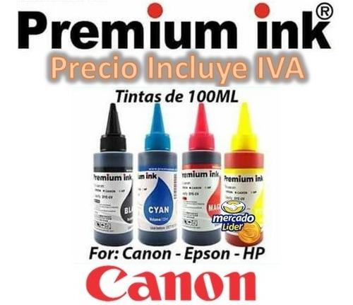 tinta canon kit 4 colores 100ml e402,e471,mx492,mg2510,mg291