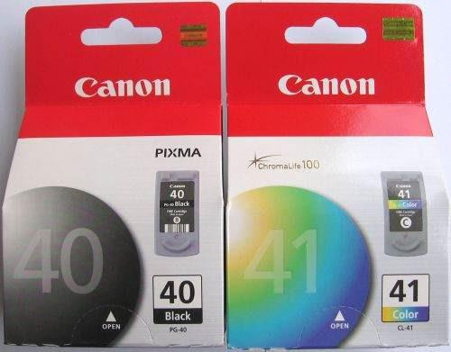 tinta canon pg-40 negro y cl 41 color oferta  x par