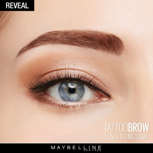 tinta cejas líquida tattoo brow tono medium brown maybelline