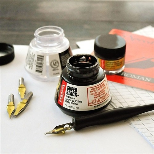 tinta china speedball super black india ink envio gratis