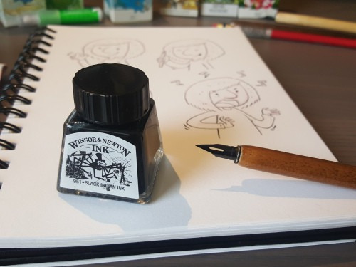 tinta china winsor & newton 14 ml negra  (3397)