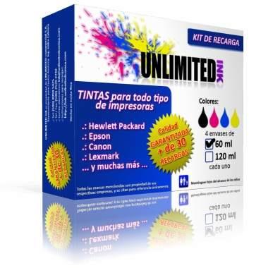 tinta claria para recargar cartuchos de impresoras, inkjet.
