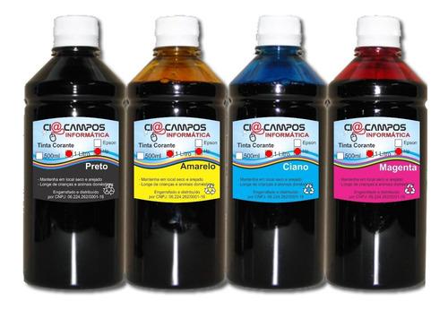 tinta compatível epson - 4 cores - 1 lt cada - frete grátis