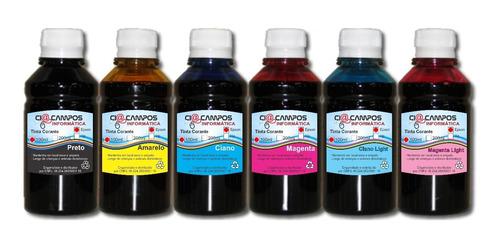 tinta compatível epson - kit 3000 - 6 cores-500ml cada cor
