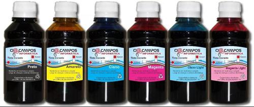 tinta compatível epson - kit6000 - 6 cores - 500ml cada cor