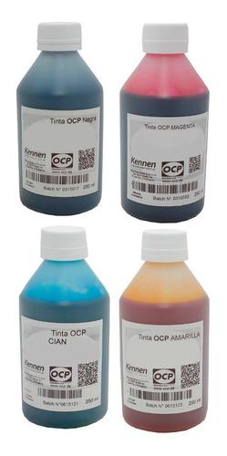 tinta continua ocp para canon pixma g2100 g3100 4x250ml