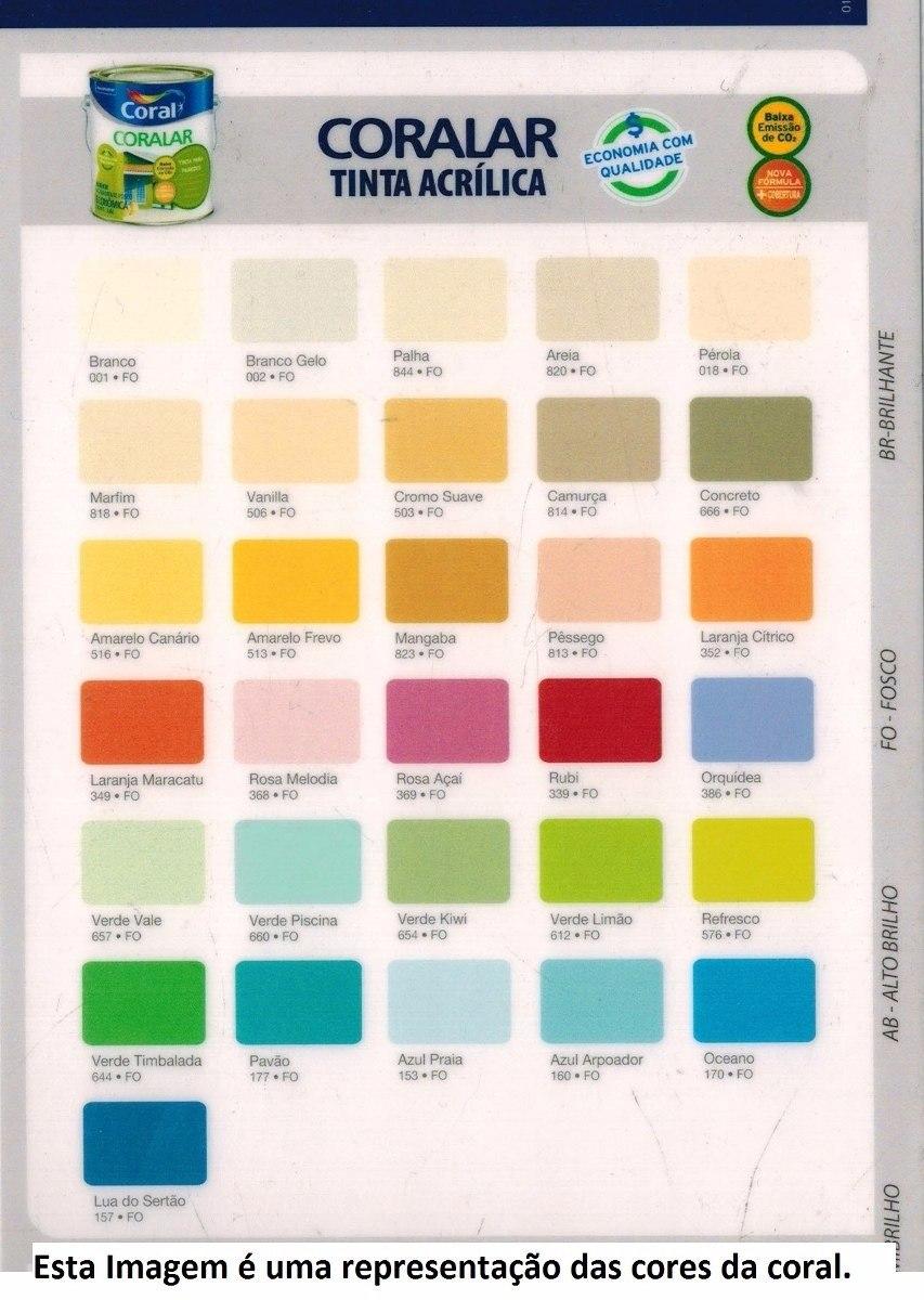 Tinta Coralar Coral Acr Lico Cores No Catalogo 18 Litros R 159 90