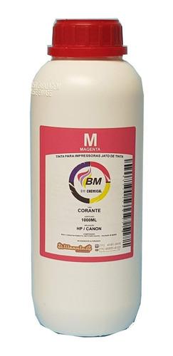 tinta corante 1 litro recarga hp canon bm chemical