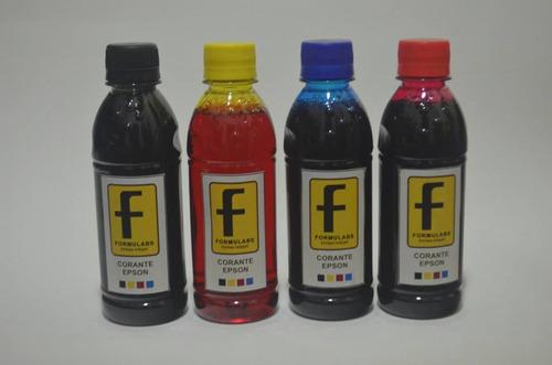 tinta corante epson formulabs 500ml black + 3x 100ml color