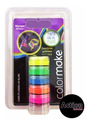 tinta cremosa fluorescente 5 cores cítricas neon facial
