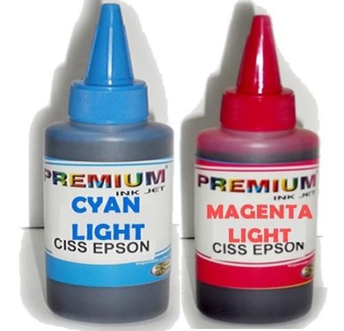 tinta cyan light y magenta light 100ml para impresoras epson