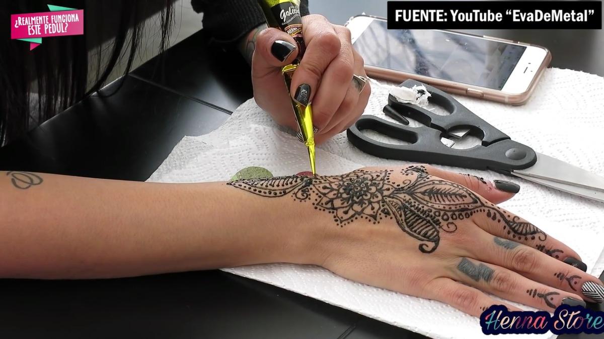 Tinta De Henna Negra Golecha Para Tatuaje Temporal S 1500 En