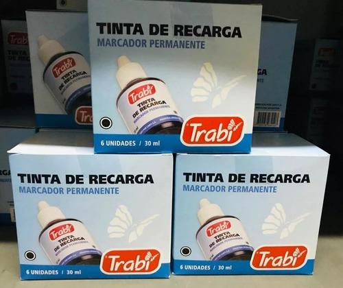 tinta de recarga para marcadores permanentes 30 ml trabi
