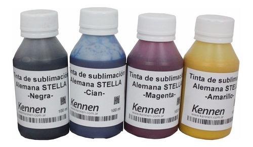 tinta de sublimación alemanas flores eco para epson 4x100ml