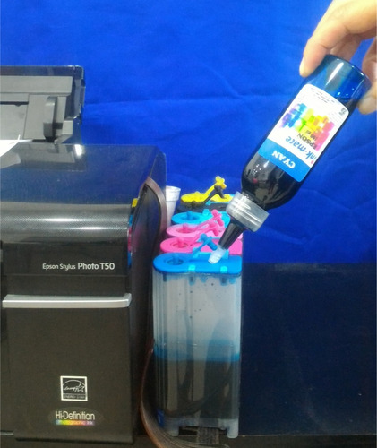 tinta de sublimacion colores neon/ fluorescente por 100 ml