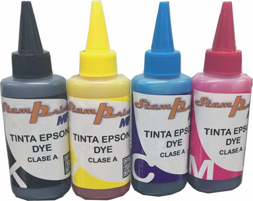 tinta dye para impresora epson 100 ml los 4 colores clase a