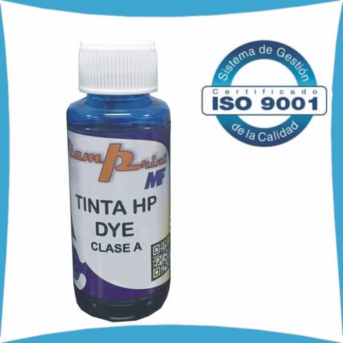 tinta dye para impresora hp 100 ml colores clase a