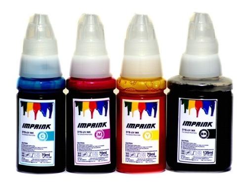 tinta dye uv para todas impresoras canon cmy:70ml bk:135ml