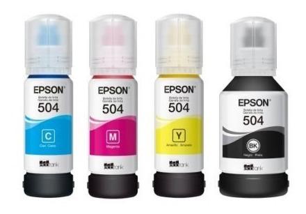 tinta epson 504 ecotank l4150 l4160 l6161 l6171 l6191