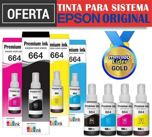 tinta epson 664 l210 l220 l375 l365 l380 l555 l565 original