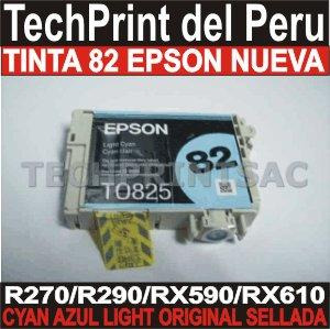 tinta epson 82 cyan light original r270 r290 rx510 rx610