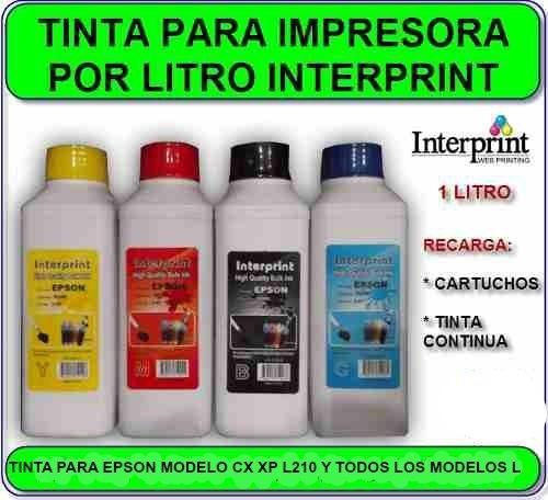 tinta epson dey marca interprint presentación 1 litro