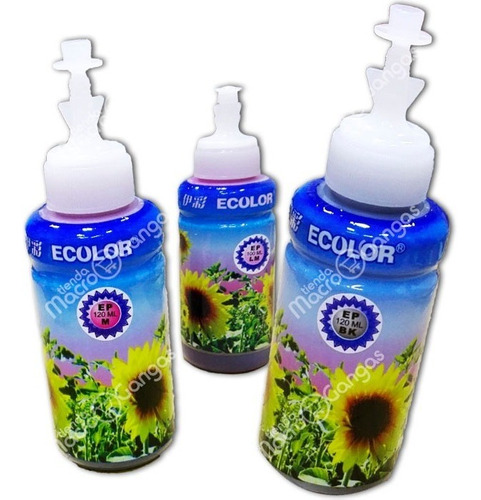 tinta epson ecolor 664 ecotank botella 120ml  colores
