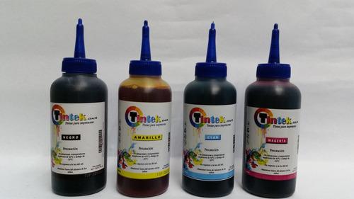 tinta epson kit (negro, amarillo, azul, magenta) 4 de 120ml