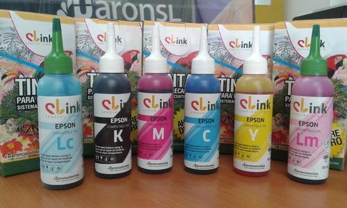 tinta epson kit x 4 und x 100ml l210 l220 l365  100 ml