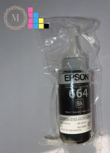 tinta epson negra original 664 modelos t664/l210 l375 l555