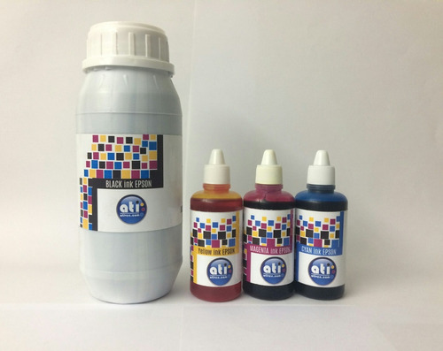 tinta epson negro ati sellada 500ml + 3 colores de 60ml